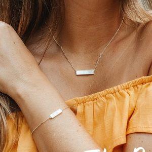 Pura Vida bar necklace and bracelet set July 2019